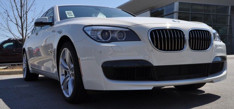 2014 BMW 750Li Definitely Not Beautiful or Focused -- But Less Adrift as SWB 750i with Squared-Off LED Lights Option 12