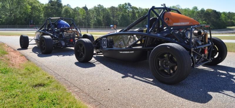 Ariel Atom Duo on Slicks at the Road Atlanta Skidpad for ATL Driving Experience 21