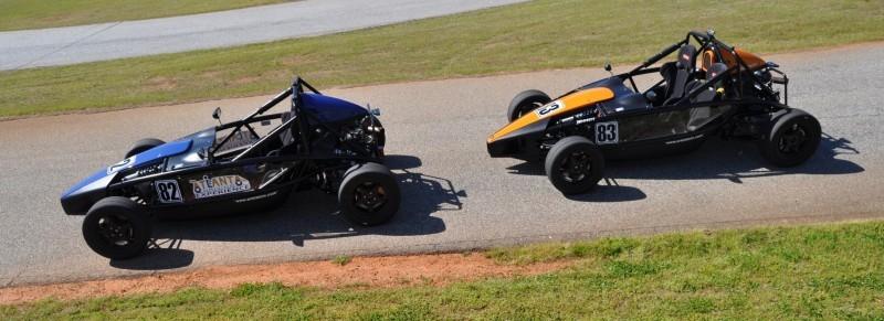 Ariel Atom Duo on Slicks at the Road Atlanta Skidpad for ATL Driving Experience 23