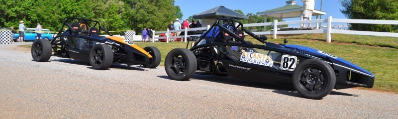 Ariel Atom Duo on Slicks at the Road Atlanta Skidpad for ATL Driving Experience 8