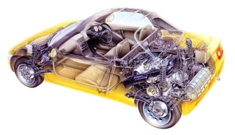 Automotive Artist Showcase -- 3D Mechanical Illustrator Hisashi Saito -- 30 Stunning See-Through Honda Designs 18