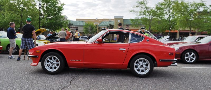 Classic Sports Car Showcase -- Datsun 240Z at Cars & Coffee -- Immaculate in 30 Glowing Orange Photos 14