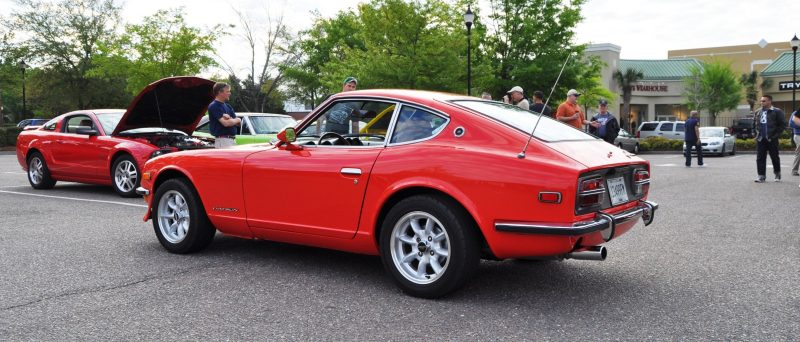 Classic Sports Car Showcase -- Datsun 240Z at Cars & Coffee -- Immaculate in 30 Glowing Orange Photos 17