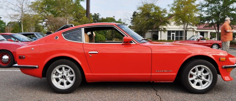 Classic Sports Car Showcase -- Datsun 240Z at Cars & Coffee -- Immaculate in 30 Glowing Orange Photos 27