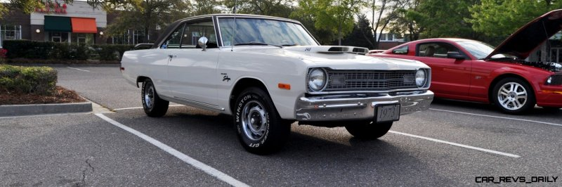 Mini Musclecar Is Ready To Boogie! 1973 Dodge Dart Swinger at Charleston, SC Cars and Coffee 31