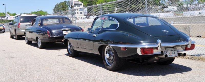 Road Atlanta - Mitty 2014 Pit Lane - ~1965 JAGUAR Mark 10 and E-Type Coupe Side-by-Side 7