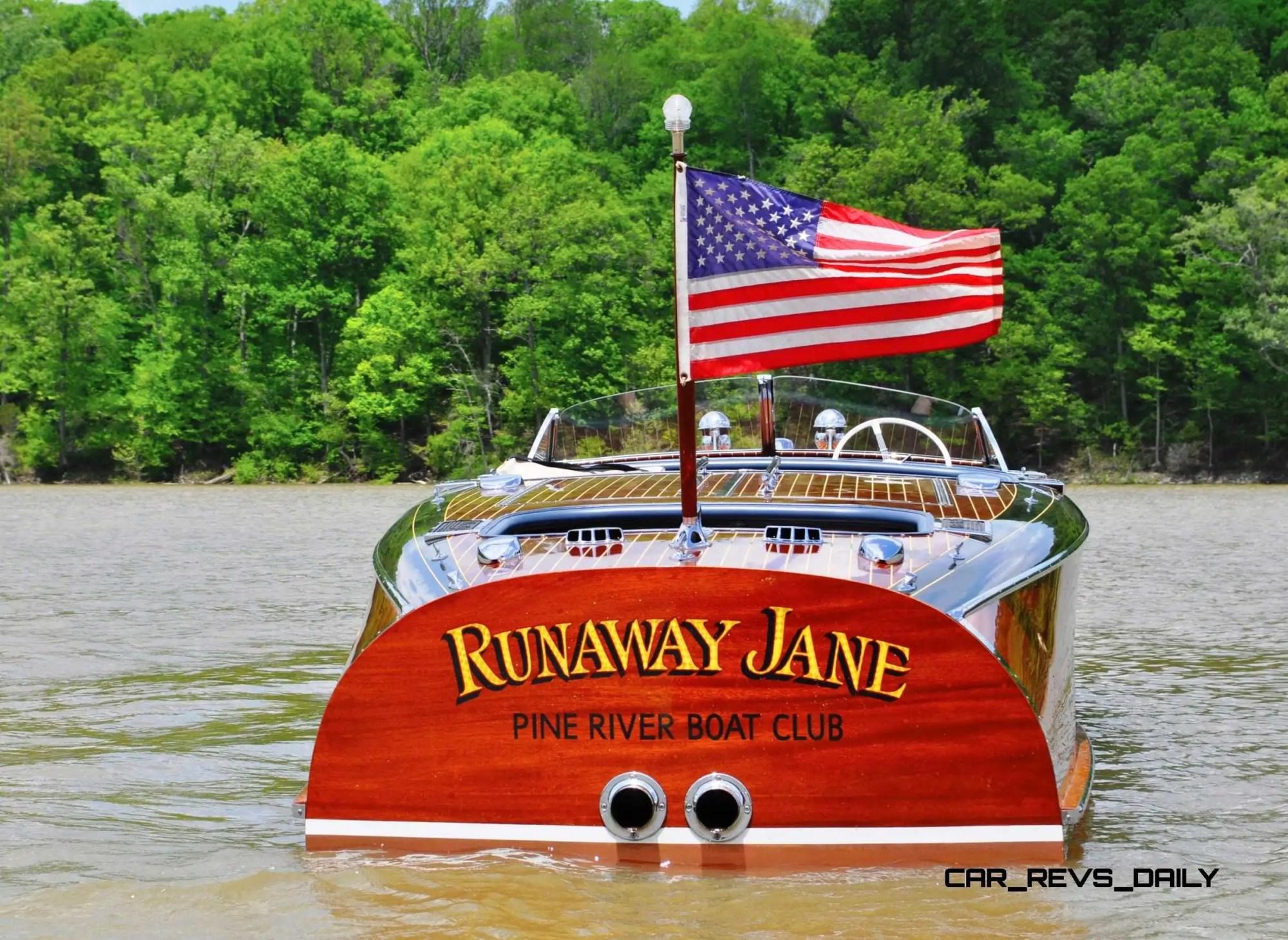 hight resolution of rm hershey highlights 1941 chris craft 27 foot barrel back runaway jane