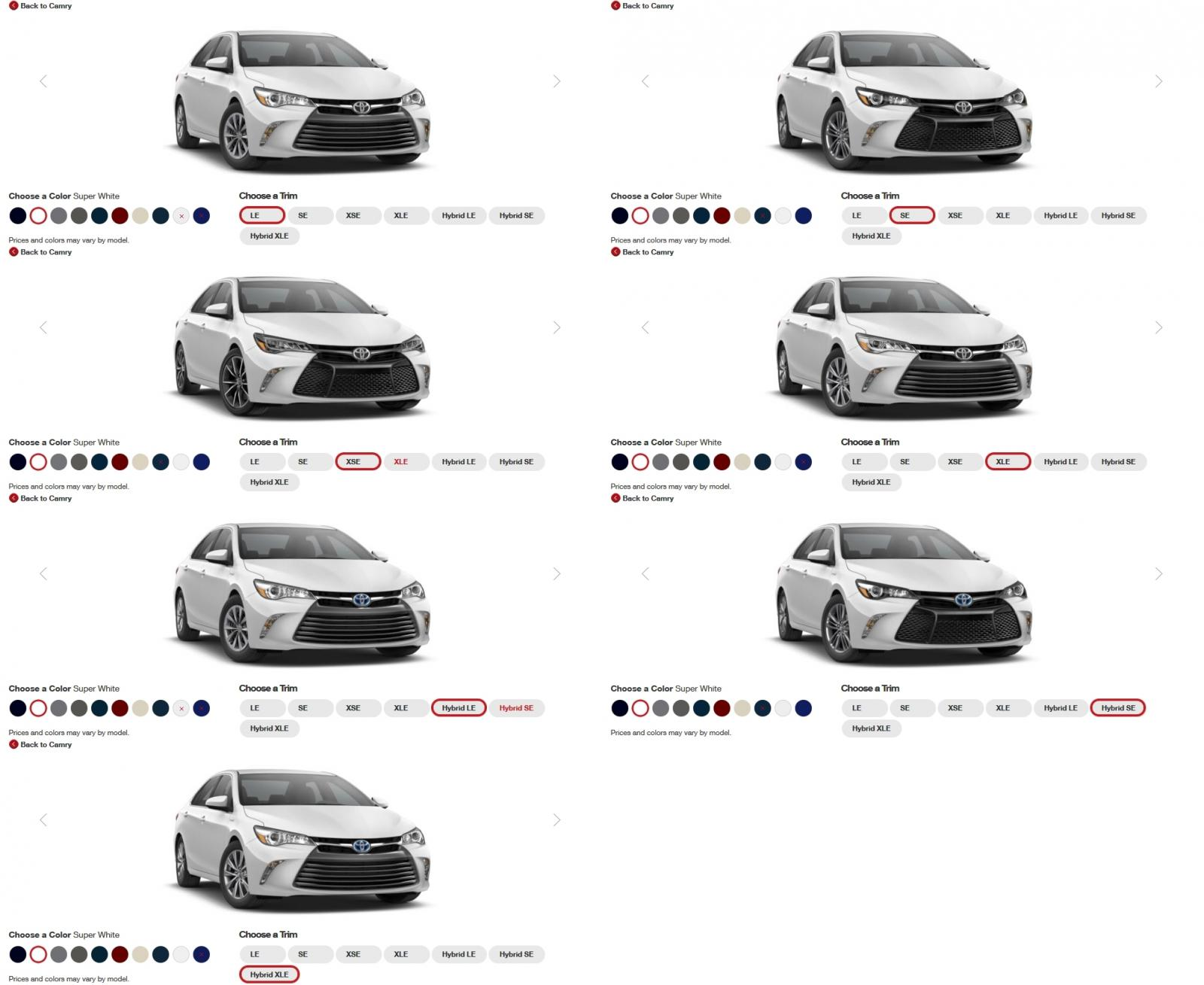 Toyota Camry Xse Colors 2