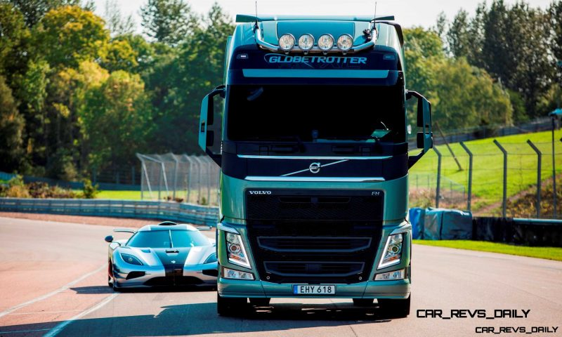 Fifth Gear's Tiff Needell Presents - Volvo FH Truck vs Koenigsegg One1 11