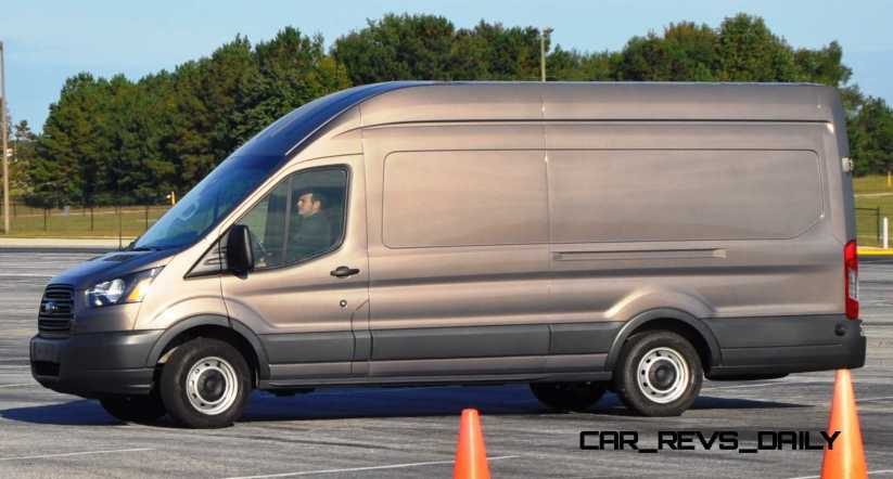 HD Track Drive Review - 2015 Ford Transit PowerStroke Diesel High-Roof, Long-Box Cargo Van 16