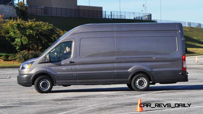 HD Track Drive Review - 2015 Ford Transit PowerStroke Diesel High-Roof, Long-Box Cargo Van 19