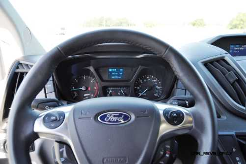 HD Track Drive Review - 2015 Ford Transit PowerStroke Diesel High-Roof, Long-Box Cargo Van 39