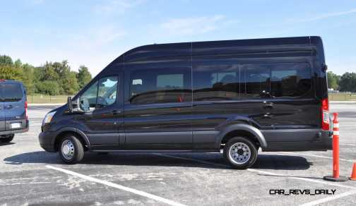 HD Track Drive Review - 2015 Ford Transit PowerStroke Diesel High-Roof, Long-Box Cargo Van 44