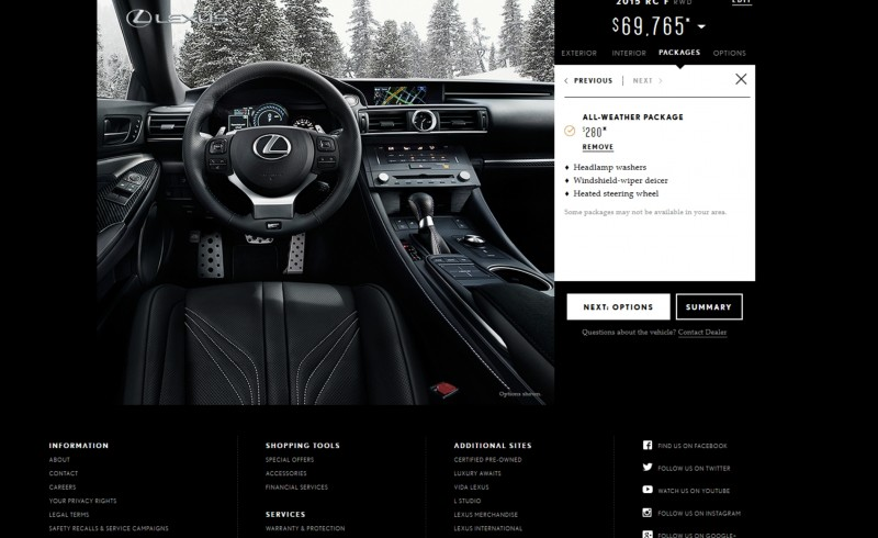 2015 Lexus RC F Colors and Wheels Visualizer 10