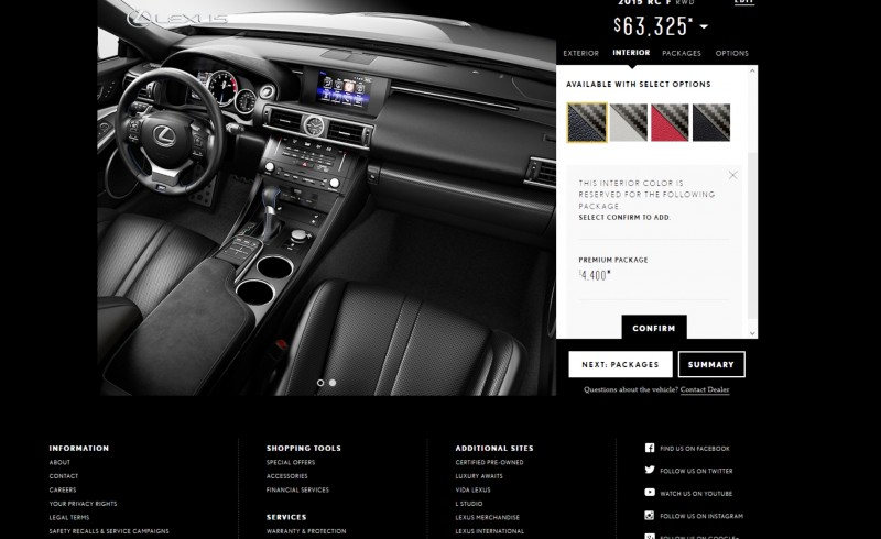 2015 Lexus RC F Colors and Wheels Visualizer 5