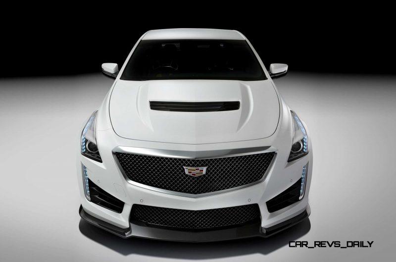 2016 Cadillac CTS-V Crystal White Tricoat 2