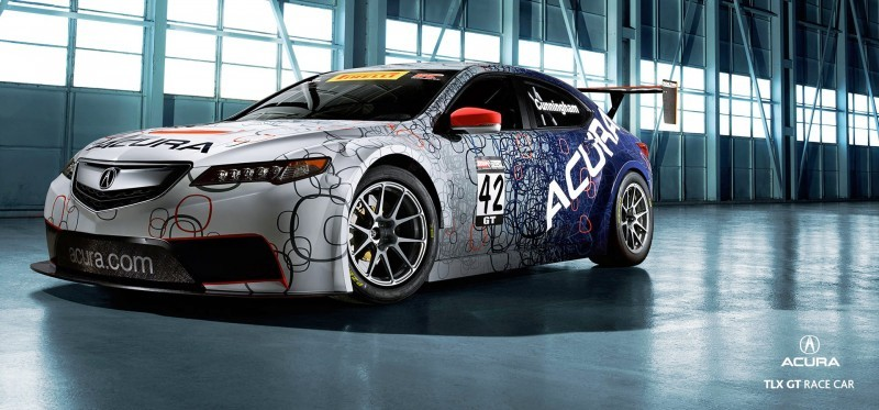 2015 Acura TLX GT Racecar Boosts Off 2015 TLX Lanuch with 500Hp Twin-Turbo SH-AWD 8