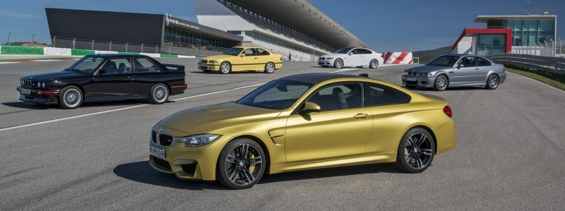2015 BMW M3 and M4 Meet The Legacy in 52 New Photos With E30 Sport Evolution, E36 M3 Sedan, E46 and E90 12
