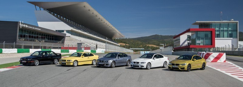 2015 BMW M3 and M4 Meet The Legacy in 52 New Photos With E30 Sport Evolution, E36 M3 Sedan, E46 and E90 14