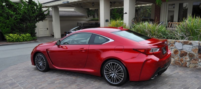2015 Lexus RC-F in Red at Pebble Beach 109