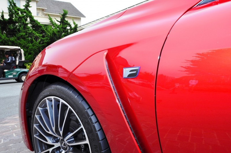 2015 Lexus RC-F in Red at Pebble Beach 123