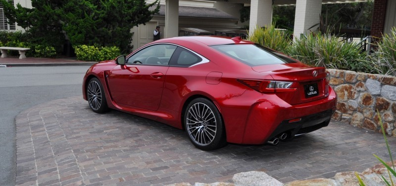 2015 Lexus RC-F in Red at Pebble Beach 28