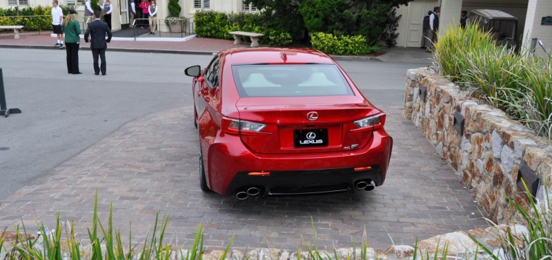 2015 Lexus RC-F in Red at Pebble Beach 38