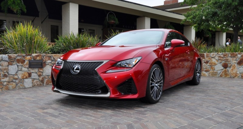 2015 Lexus RC-F in Red at Pebble Beach 5