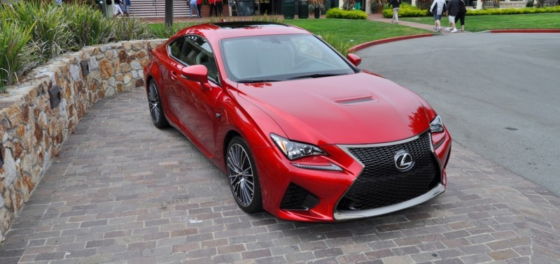 2015 Lexus RC-F in Red at Pebble Beach 67