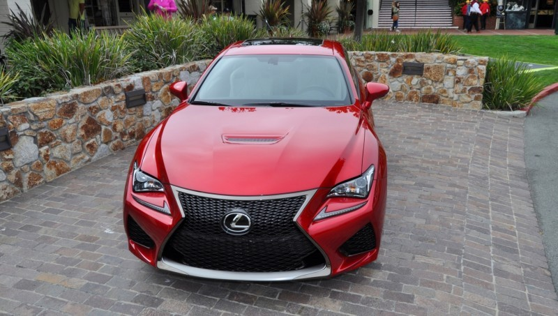 2015 Lexus RC-F in Red at Pebble Beach 77