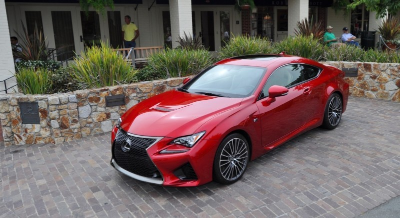 2015 Lexus RC-F in Red at Pebble Beach 85