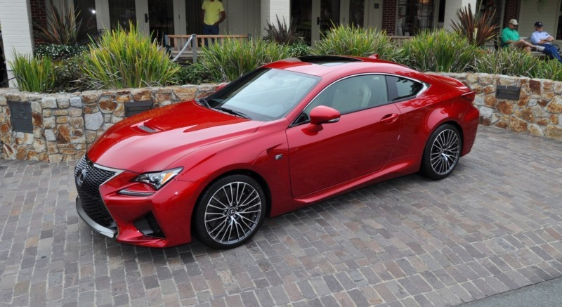 2015 Lexus RC-F in Red at Pebble Beach 89