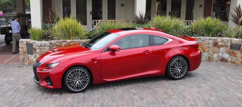 2015 Lexus RC-F in Red at Pebble Beach 92