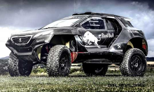 The Peugeot 2008 DKR during the first test in Freneuse, France o