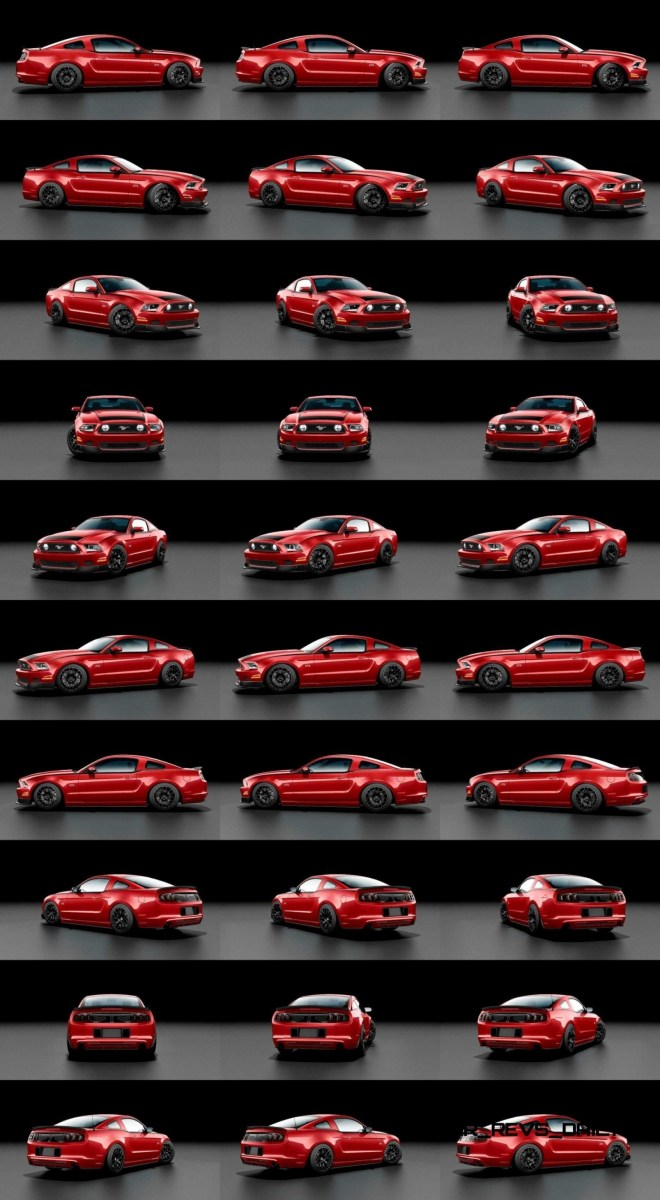 2014 Ford Mustang RTR Spec 2 Colors and Turntable 30-tile