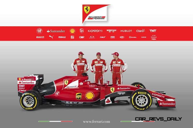 2015 F1 Cars Comparo - Infiniti RB11 vs McLaren-Honda MP4-30 vs AMG W06 vs Ferrari SF15T 2