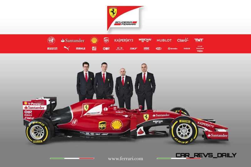 2015 F1 Cars Comparo - Infiniti RB11 vs McLaren-Honda MP4-30 vs AMG W06 vs Ferrari SF15T 5
