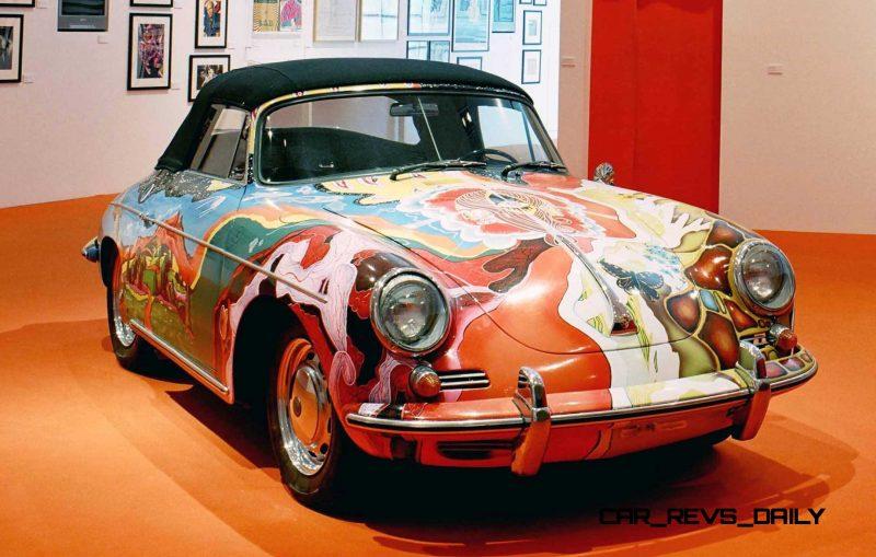 Houston Auto Show Curio - Porsche 356 Art Car Is Janis Joplin Homage 1