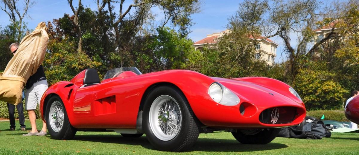 1956 Maserati 300S Wins Amelia Island 2015 Stirling Moss Award