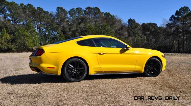2015 Ford Mustang EcoBoost in Triple Yellow 100