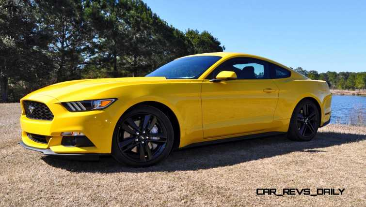2015 Ford Mustang EcoBoost in Triple Yellow 119