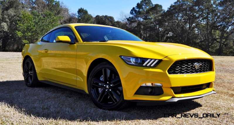 2015 Ford Mustang EcoBoost in Triple Yellow 12