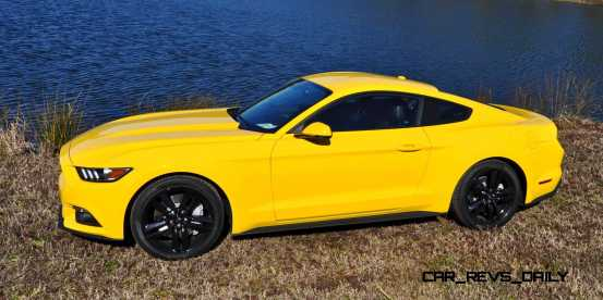 2015 Ford Mustang EcoBoost in Triple Yellow 149