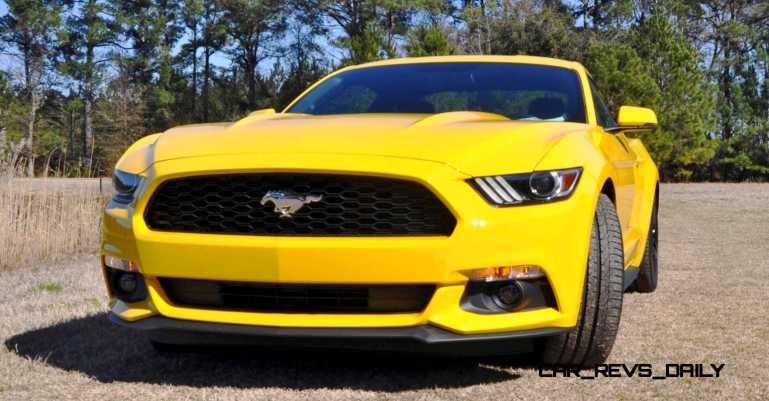 2015 Ford Mustang EcoBoost in Triple Yellow 4