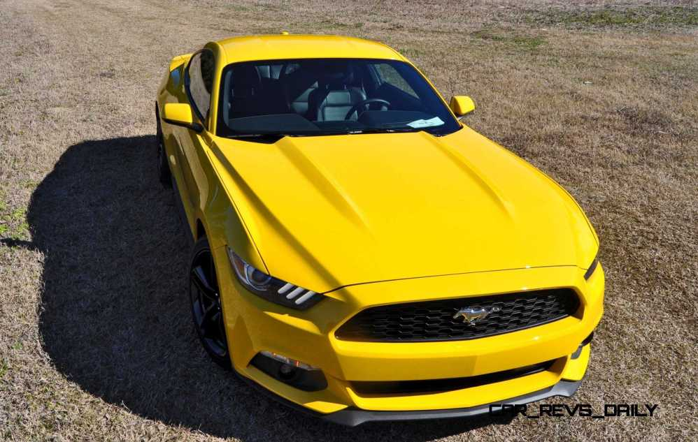 2015 Ford Mustang EcoBoost in Triple Yellow 62