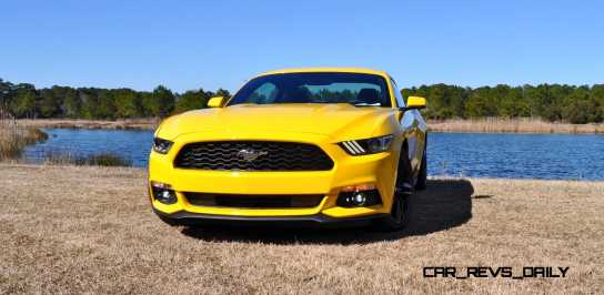 2015 Ford Mustang EcoBoost in Triple Yellow 85
