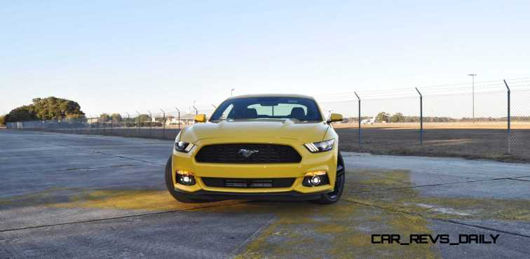 HD Road Test Review - 2015 Ford Mustang EcoBoost in Triple Yellow with Performance Pack 100