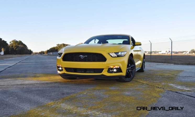 HD Road Test Review - 2015 Ford Mustang EcoBoost in Triple Yellow with Performance Pack 106