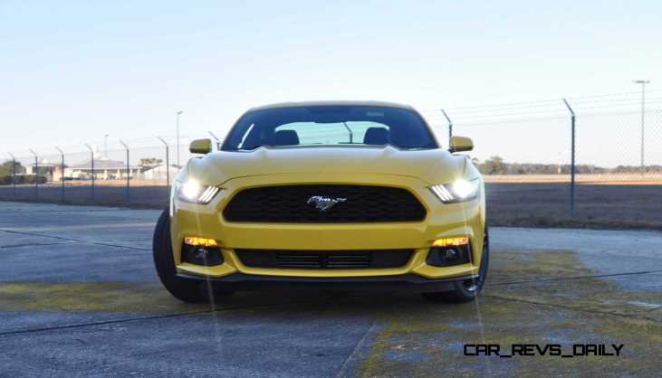 HD Road Test Review - 2015 Ford Mustang EcoBoost in Triple Yellow with Performance Pack 174