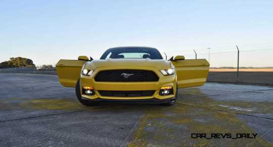 HD Road Test Review - 2015 Ford Mustang EcoBoost in Triple Yellow with Performance Pack 189